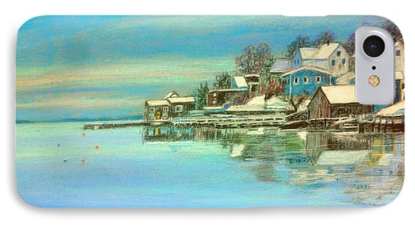 winter in Chester ,Nova Scotia  IPhone Case by Rae  Smith PAC