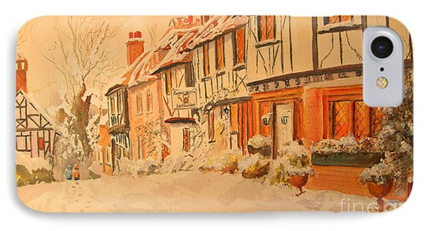 Winter In Chilham Kent IPhone Case by Beatrice Cloake