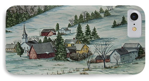 Winter In East Chatham Vermont IPhone Case by Charlotte Blanchard