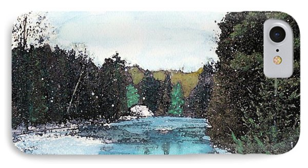 IPhone Case featuring the mixed media Winter In Kalkaska by Desiree Paquette