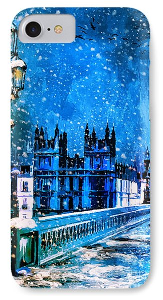 Winter In London  IPhone Case by Andrzej Szczerski