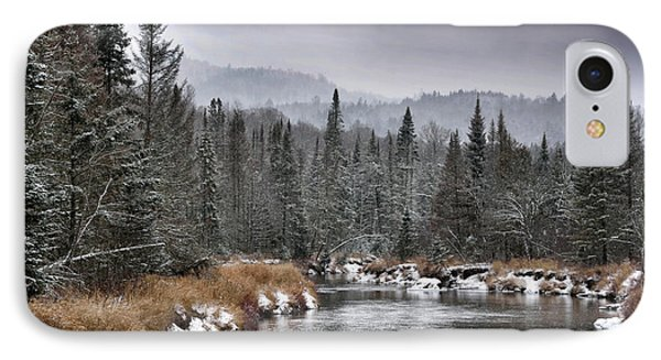 Winter In The Adirondack Mountains - New York IPhone Case by Brendan Reals