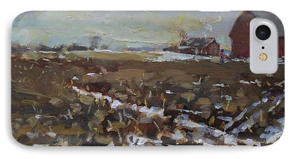 Winter In The Farm IPhone Case by Ylli Haruni