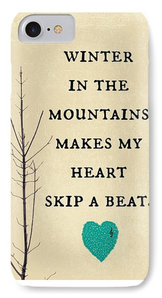 Winter In The Mountains IPhone Case by Brandi Fitzgerald