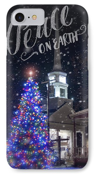 Winter In Vermont - Christmas IPhone Case by Joann Vitali