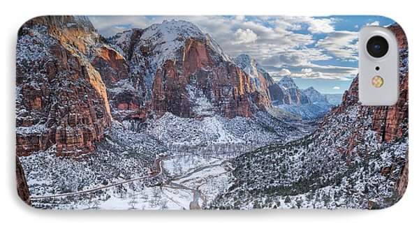 Winter In Zion National Park IPhone Case by James Udall