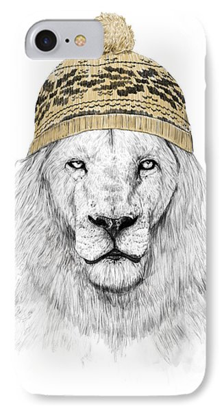Lion iPhone 7 Case - Winter Is Coming by Balazs Solti