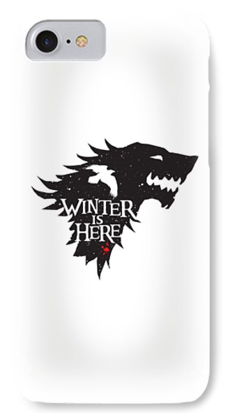 Winter Is Here IPhone Case by Edward Draganski