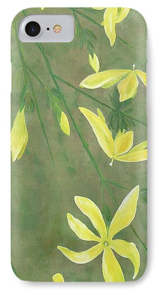 IPhone Case featuring the painting Winter Jasmine by Barbara Moignard