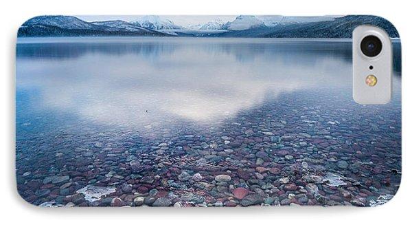 Winter Lake Rocks // Lake Mcdonald, Glacier National Park  IPhone Case