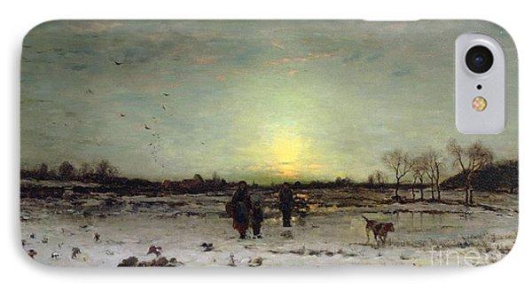 Winter Landscape At Sunset IPhone Case