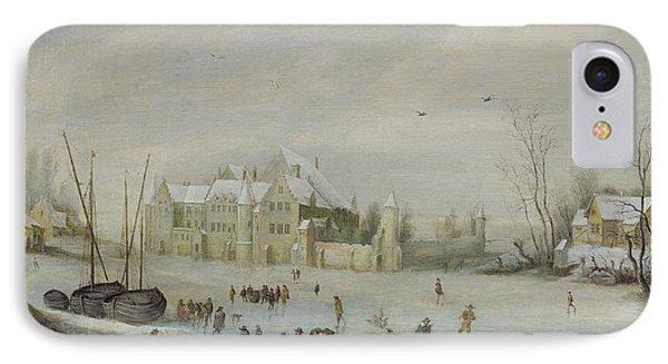 Winter Landscape Phone Case by Barent Avercamp