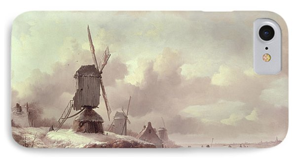Winter Landscape IPhone Case by Frederick Marianus Kruseman