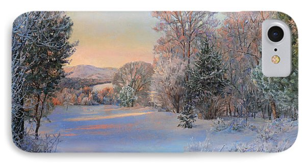 Winter Landscape In The Morning IPhone Case