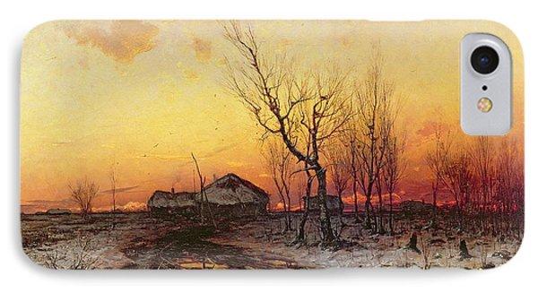 Winter Landscape IPhone Case by Julius Sergius Klever