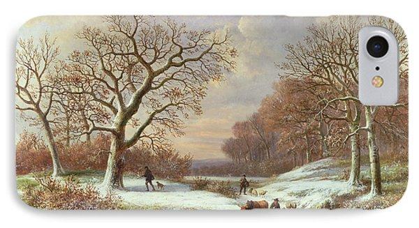 Winter Landscape Phone Case by Louis Verboeckhoven