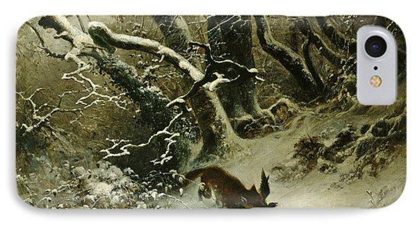 Winter Landscape Phone Case by Ludwig Munthe