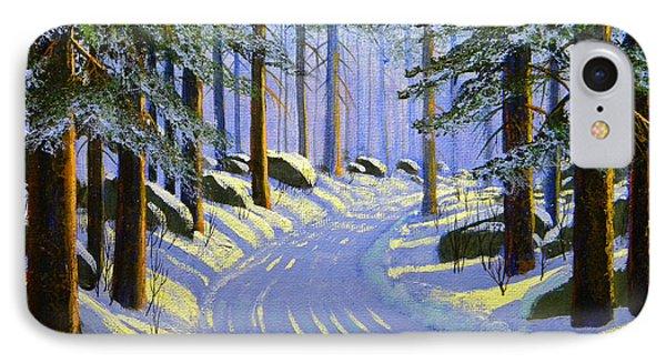 Winter Landscape Study 1 Phone Case by Frank Wilson