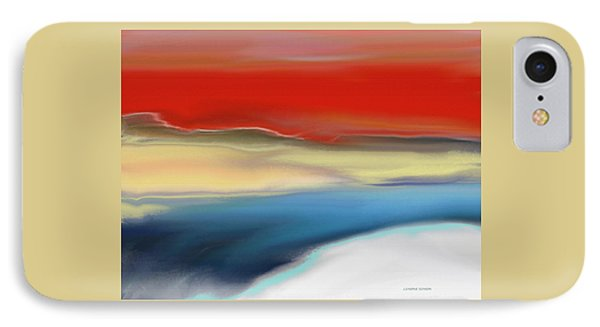 Winter Landscape With Sunset IPhone Case by Lenore Senior