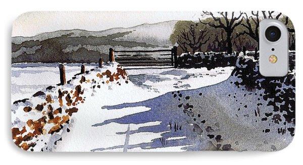 Winter Lane Sowood Phone Case by Paul Dene Marlor