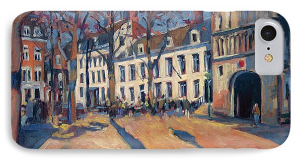 Winter Light At The Our Lady Square In Maastricht IPhone Case by Nop Briex
