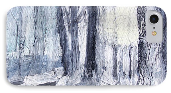 IPhone Case featuring the painting Winter Light by Robin Maria Pedrero