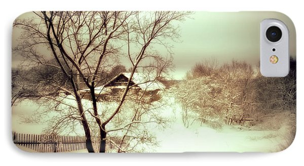 Winter Loneliness IPhone Case by Jenny Rainbow