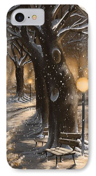 IPhone Case featuring the painting Winter Magic by Veronica Minozzi