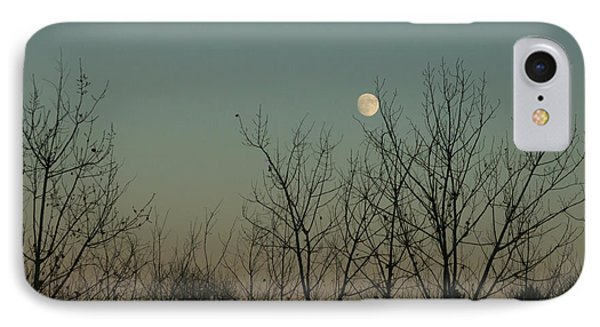 IPhone Case featuring the photograph Winter Moon by Ana V Ramirez