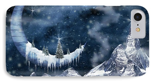 Winter Moon IPhone Case by Mihaela Pater