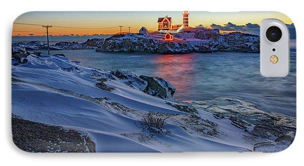 Winter Morning At Cape Neddick IPhone Case