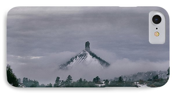 Winter Morning Fog Envelops Chimney Rock IPhone Case by Jason Coward