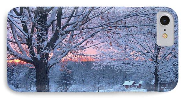 Winter Morning IPhone Case by John Burk