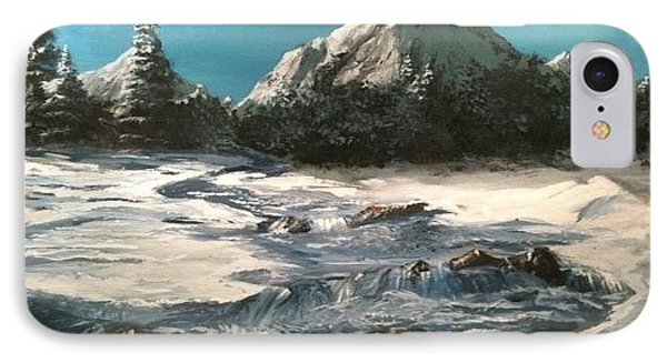 Winter Mountain Stream IPhone Case