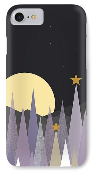 IPhone Case featuring the digital art Winter Nights - Vertical by Val Arie