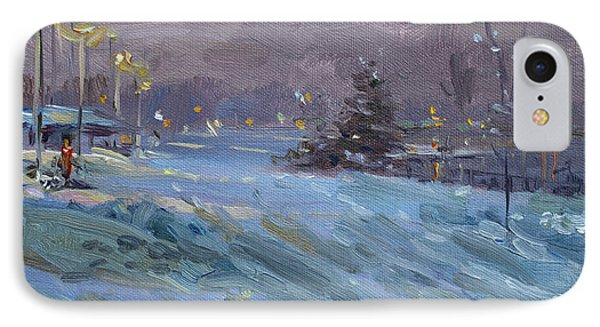 Winter Nocturne By Niagara River IPhone Case by Ylli Haruni
