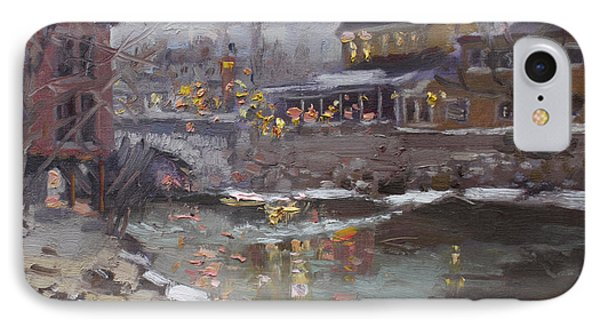 Winter Nocturne In Williamsville IPhone Case by Ylli Haruni