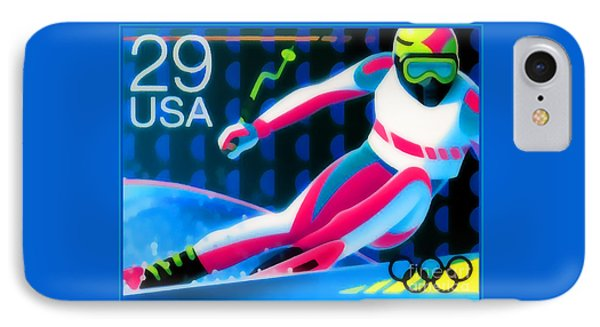 Winter Olympics - Skiing  IPhone Case by Lanjee Chee