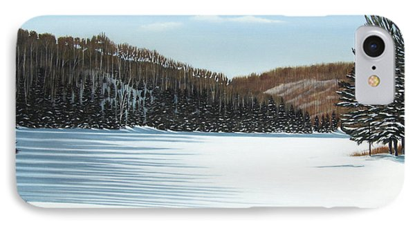 Winter On An Ontario Lake  Phone Case by Kenneth M  Kirsch