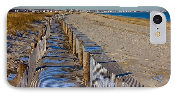 Winter On Duxbury Beach IPhone Case by Amazing Jules