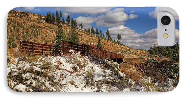 Winter On The Bizz Johnson Trail Phone Case by James Eddy