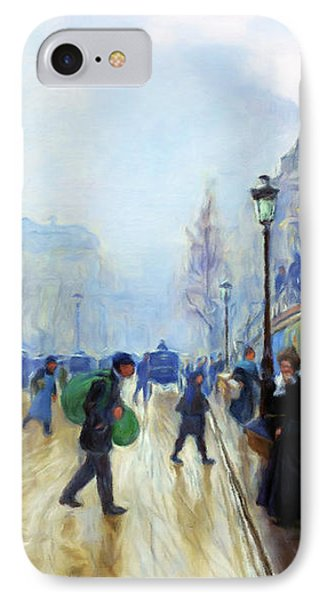 Winter On The Boulevard IPhone Case