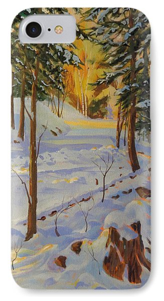Winter On The Lane IPhone Case by David Gilmore