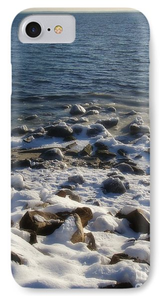 IPhone Case featuring the photograph Winter On The Long Island Sound by Kristine Nora