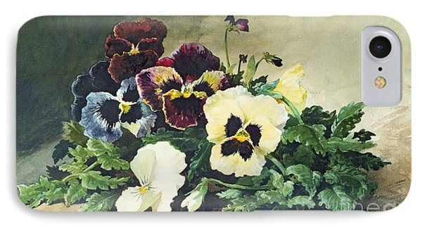 Winter Pansies Phone Case by Louis Bombled