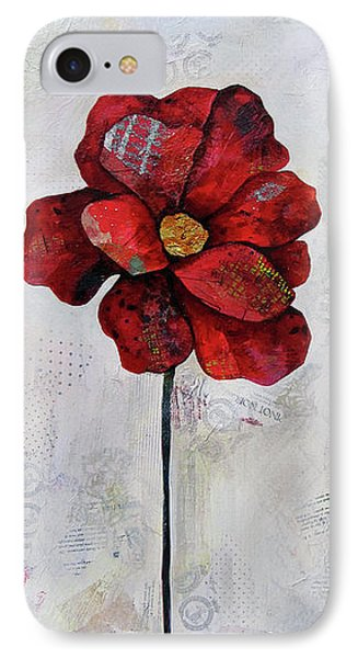 Winter Poppy II IPhone Case by Shadia Derbyshire