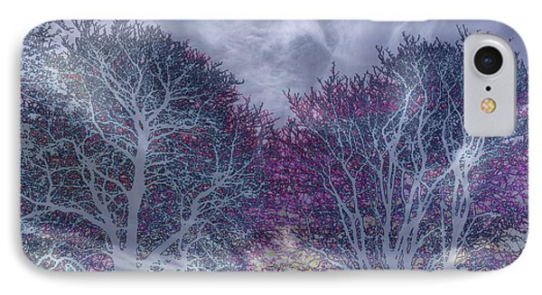 IPhone Case featuring the photograph Winter Purple by Nareeta Martin