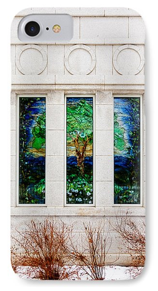 Winter Quarters Temple Tree Of Life Stained Glass Window Details IPhone Case