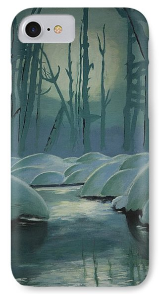 IPhone Case featuring the painting Winter Quiet by Jacqueline Athmann