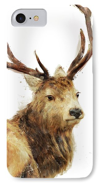 Winter Red Deer Phone Case by Amy Hamilton